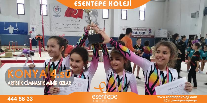 Artistik Cimnastik Minik Kızlar Konya 4.sü