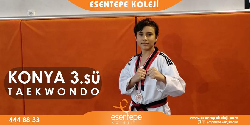 taekwondo branşında Konya 3.sü