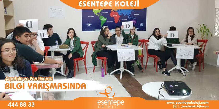 Anadolu ve Fen Lisemiz Bilgi Yarışmasında...